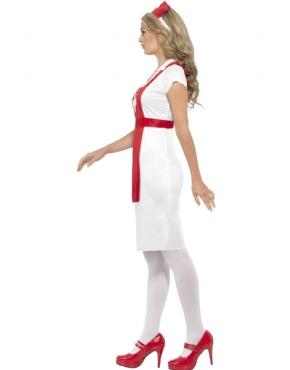 Adult A & E Nurse Costume - Back View