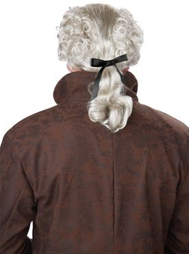 Adult 18th Century Peruke Wig - Back View