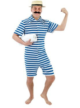 Adult 1920's Blue Beach Hunk Costume