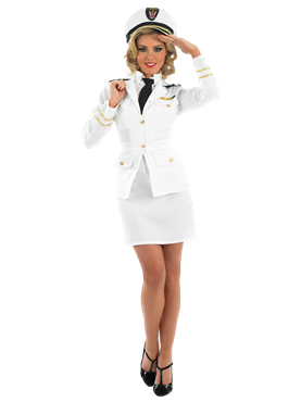 Adult 1940s Lady Naval Officer Costume Couples Costume