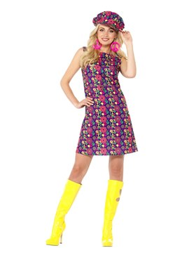 Adult 1960s Psychedelic CND Costume