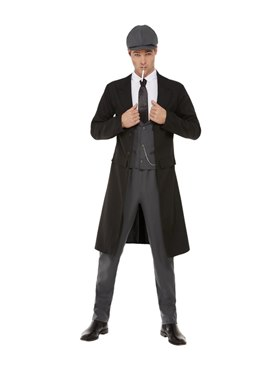 Adult 20s Blinding Gangster Costume Couples Costume