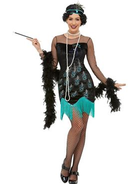Adult 20s Peacock Flapper Costume
