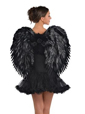 Adult Deluxe Dark Feather Angel Wings