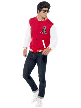 Adult 50s College Jock Jacket Couples Costume