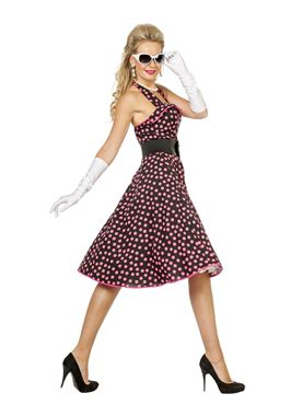 Adult 50s Rock & Roll Costume - Back View