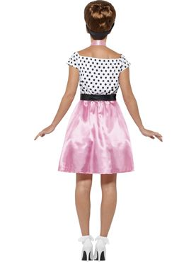 Adult 50s Rock 'n' Roll Costume - Side View