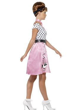 Adult 50s Rock 'n' Roll Costume - Back View