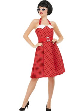 Adult 50s Rockabilly Pin Up Costume