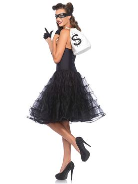 Adult 50s Rockabilly Swing Dress - Back View