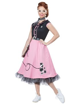 Adult 50s Sweetheart Costume