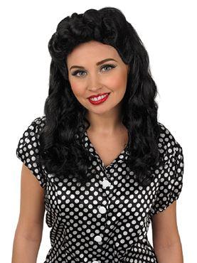 Adult Black Vintage Wig
