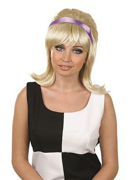 Adult 60s Blonde Beehive Wig