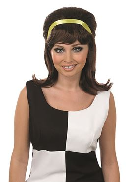 Adult 60s Brown Beehive Wig