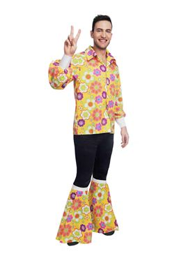 Adult 60's Flower Power Shirt Costume Couples Costume
