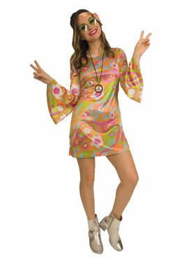 Adult 60s Groovy Baby Costume Couples Costume