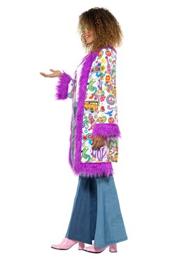 Adult 60's Groovy Coat - Back View