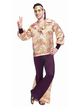 Adult 60's Groovy Guy Costume Couples Costume