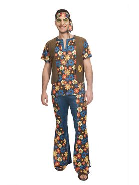 Adult 60's Groovy Hippy Man Costume
