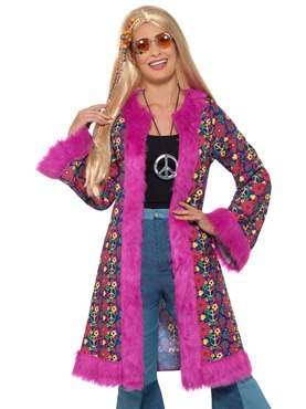 Adult 60's Hippie Coat