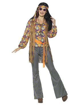 Adult 60's Hippie Singer Costume - Side View