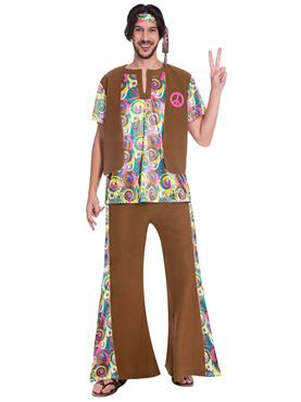 Adult 60s Psychedelic Hippy Costume