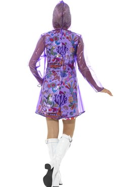 Adult 60's Rain Mac Costume - Side View