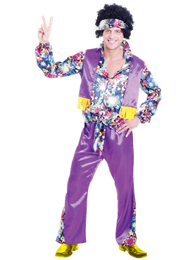 Adult 70's Groovy Guy Costume Couples Costume