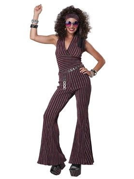 Adult 70s Halter Pant Set Costume Couples Costume