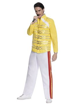 Adult 80's Freddie Mercury Rock Legend Costume - Side View