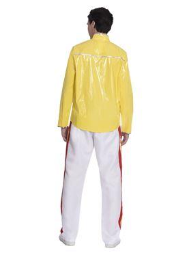 Adult 80's Freddie Mercury Rock Legend Costume - Back View