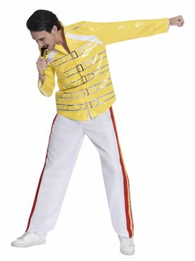 Adult 80's Freddie Mercury Rock Legend Costume