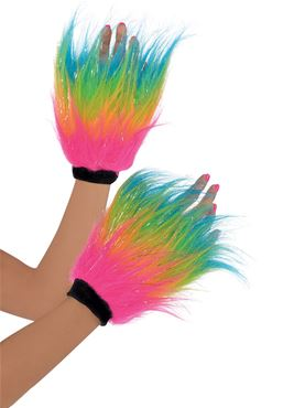 Adult 80s Furry Hand Warmers