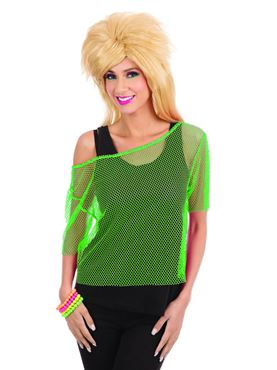 Adult 80s Green Mesh Top