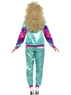 Adult 80's Height of Fashion Shell Suit - Side View