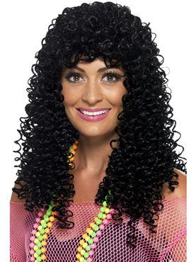 Adult 80s Wet Look Pop Star Wig