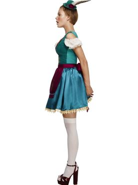 Adult Fever Deluxe Dirndl Costume - Back View