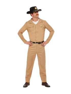 Adult 80s Sheriff Costume - Back View