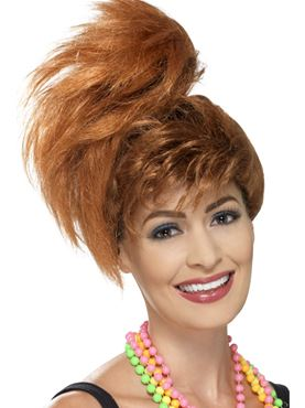 Adult 80s Side Ponytail Wig
