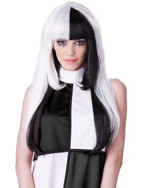 Adult A La Mod Black/White Wig