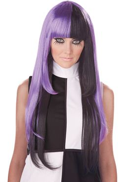 Adult A La Mod Black/Purple Wig