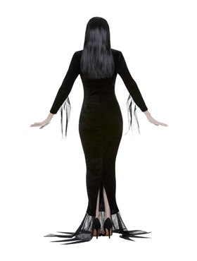Adult Addams Family Morticia Costume - Side View