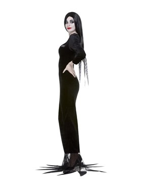 Adult Addams Family Morticia Costume - Back View