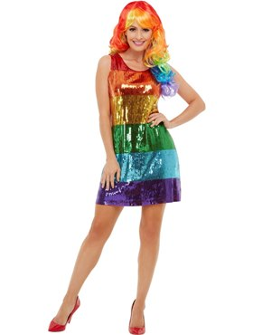 Adult All That Glitters Rainbow Costume