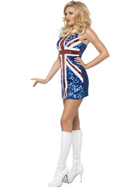 Adult All that Glitters Rule Britannia Costume - Back View