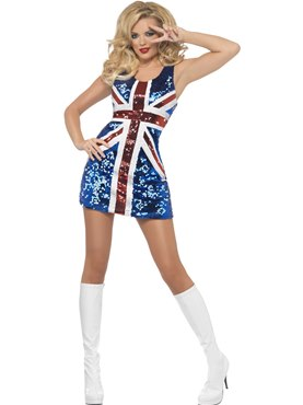 Adult All that Glitters Rule Britannia Costume