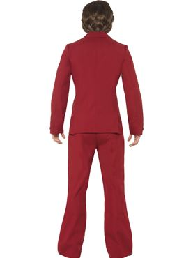 Adult Anchorman Ron Burgundy Costume - Side View