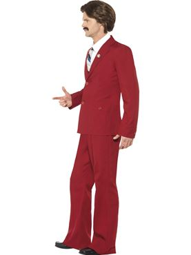 Adult Anchorman Ron Burgundy Costume - Back View