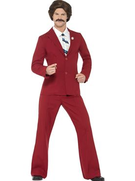 Adult Anchorman Ron Burgundy Costume