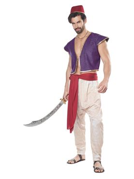 Adult Arabia Folk Hero Costume - Back View